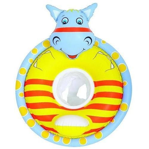 """31.5"""" Gray and Yellow Hippo Children's Inflatable Swimming Pool Baby Seat Float. This hippo shaped baby and children's rider float provides pre-swimmers with the confidence of getting comfortable in the water   Comfy yet dependable construction and fun design help to create an enjoyable water experience while building water confidence   Smooth  comfortable leg holes   Backrest for support   Made of 7.6-gauge vinyl   Maximum weight: 50 lbs (23 kg)    Age: 3-5 years    Dimensions: 31.5"""" long x…"""