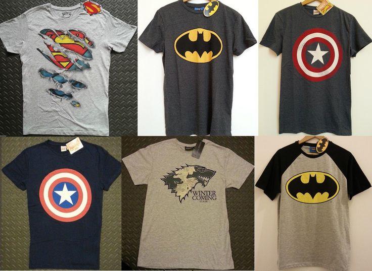 Primark T Shirt Captain America Superman Batman Game of Thrones Men's Marvel GoT £14.99