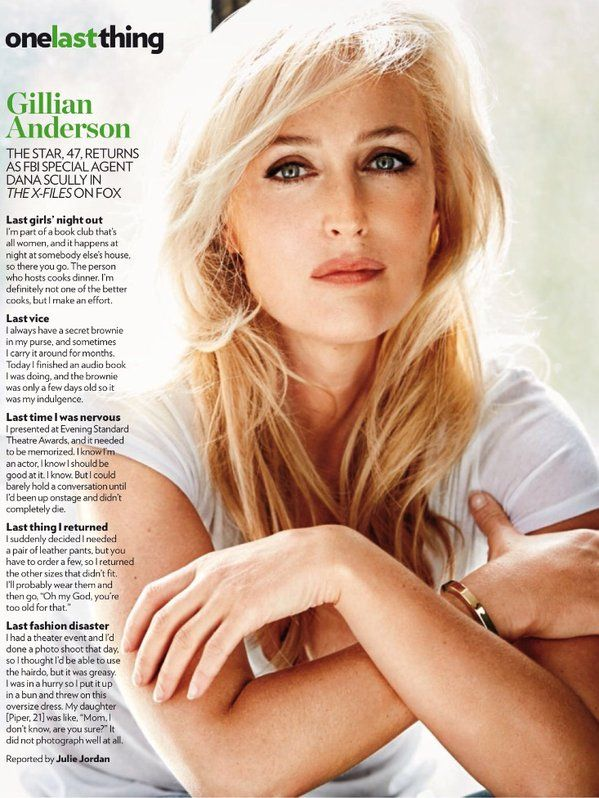 Gillian Anderson ~ One Last Thing