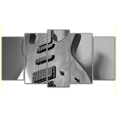 Obraz na płótnie poliptyk pięcioczęściowy - Drewniana gitara #fedkolor #obraz #na #płótnie #ze #zdjęcia #gitara #muzyka #granie #instrumenty #dom #mieszkanie #bar #inspiracja #pomysł #ozdoba #dekoracje #diy