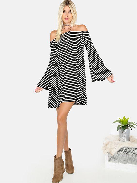 Bell in black and white stripes.#balckandwhite #tshirtdress