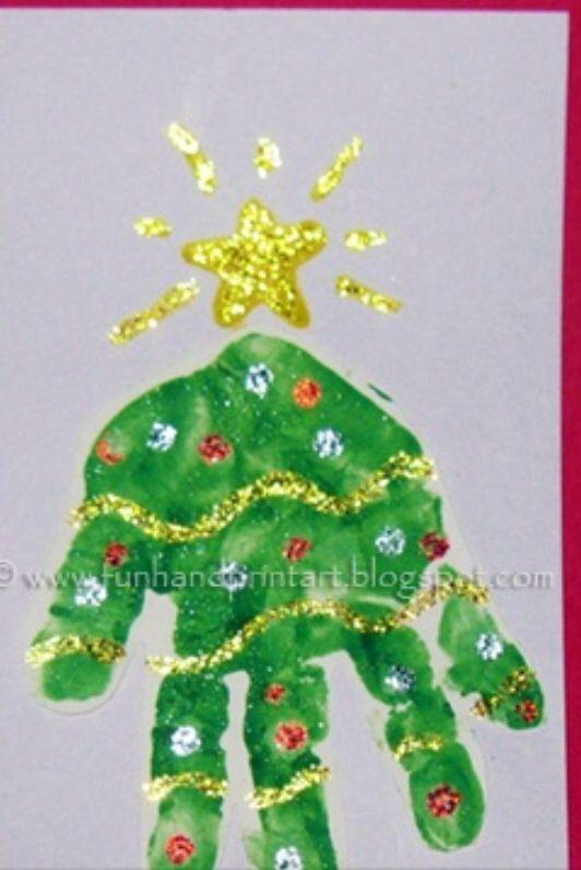 christmas tree handprint - photo #5