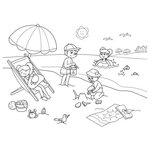 Disegno Di Spiaggia Sole E Mare Da Colorare Bambini Da Colorare Disegni Disegni Bambini