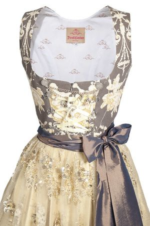 Dirndl Couture by Astrid Söll - Who knew there were designer dirndl? And on sale, down from 750 Euros.