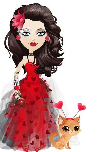 vestido rojo+negro