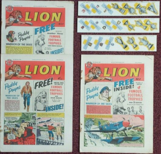 These are the Lion comics the famous football trophies came with.
