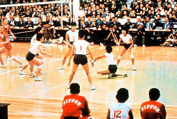 Attack for USSR. Tokyo Olympic volleyball gold medal 1964