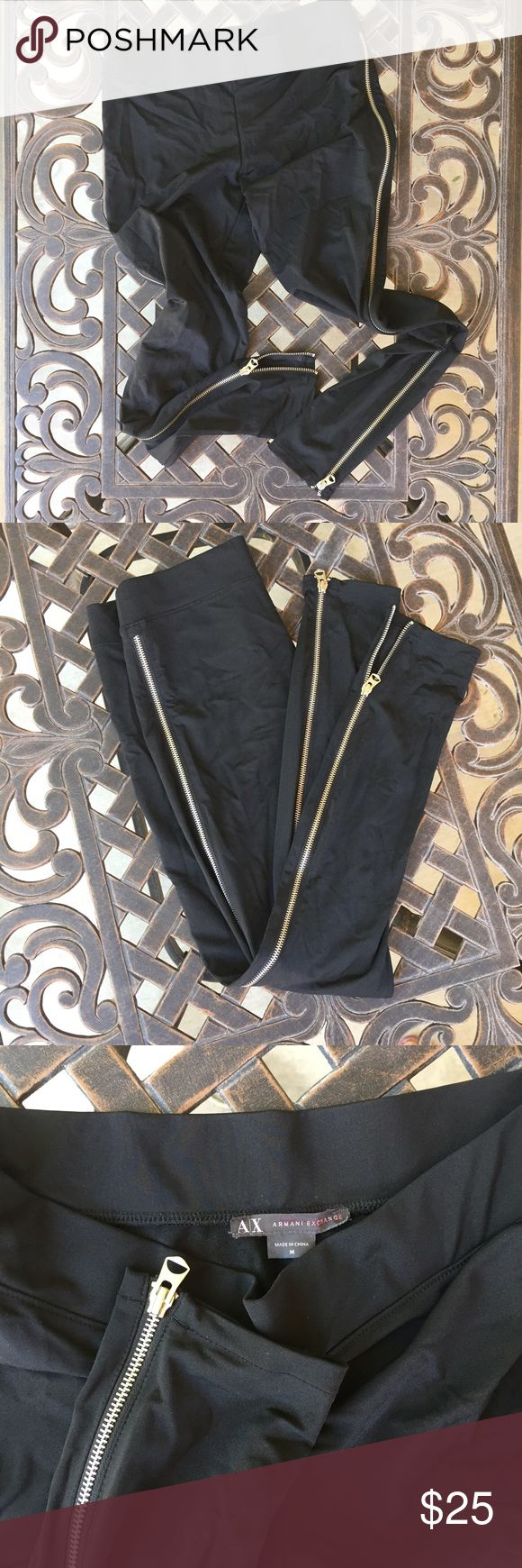 Armani Exchange Leggings In a great condition, worn just couple times. ✅ Bundles are 15% off! ✅ A/X Armani Exchange Pants Leggings