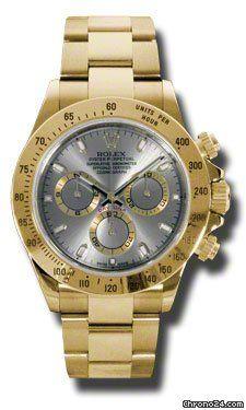 Rolex Daytona Yellow Gold Mens Watch 116528GS $27,725 #Rolex #watch #watches #chronographes