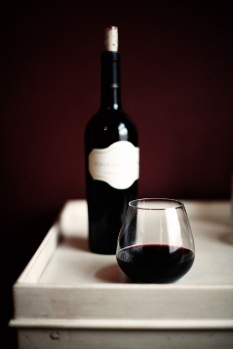 There's nothing like a glass of red wine in the evening. Heaven.