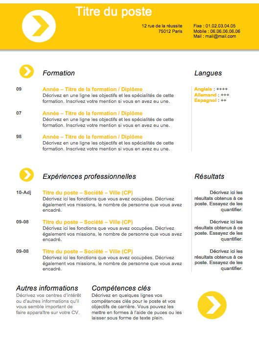 exemple de cv design qui fonctionne