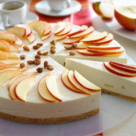 Nepečený jablečno-škořicový dort