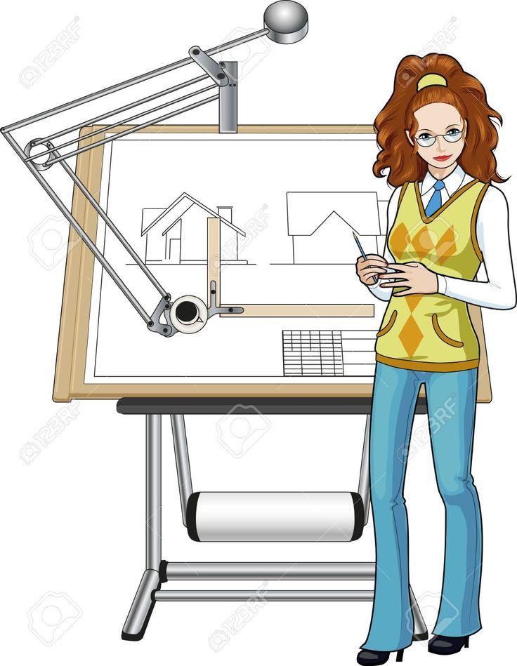 Female Architect Of Caucasian Race Presenting Her Blueprint ...