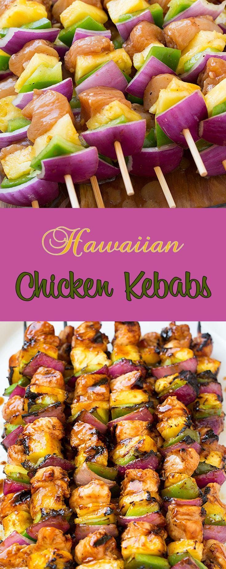 Hawaiian chicken kebabs hawaiian luau food luau food