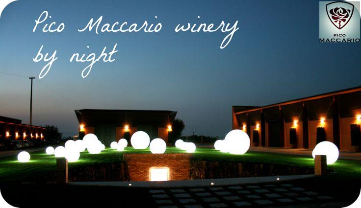 #PicoMaccario #barricaia #winecellar #bynight
