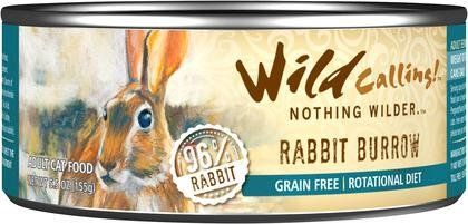 Wild Calling Canned Cat Food - Rabbit Burrow 96% Rabbit - 5.5 oz