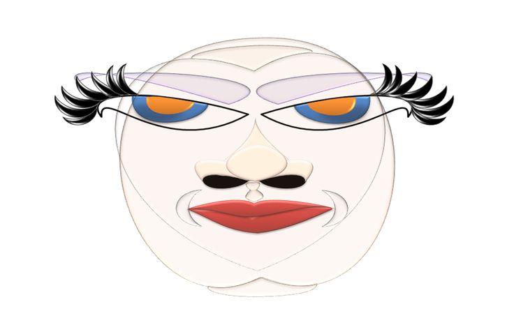 Máscara infográfica especial para ser utilizad en ilustraciones de medios virtuales