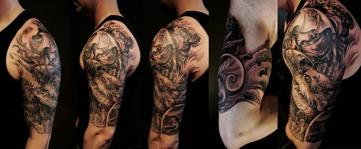 1000 images about tattoos on pinterest sleeve tattoo for Evil tattoo sleeve