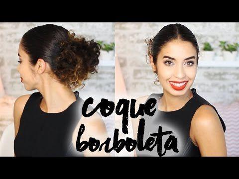 Como Fazer Coque Borboleta - Meu Crespo - YouTube