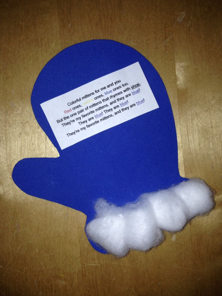 This mitten craft along with the story   quot The Mitten quot  by Jan Brett is a    Mitten Crafts For Preschoolers