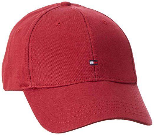 Tommy Hilfiger Classic Bb Cap, Gorra de Béisbol para Hombre, Rojo (Rio Red), Talla Única (Talla del Fabricante: OS)