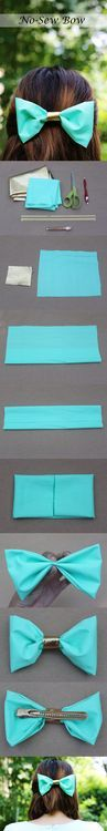 Diy Projects: DIY No-Sew Hair Bow on imgfave