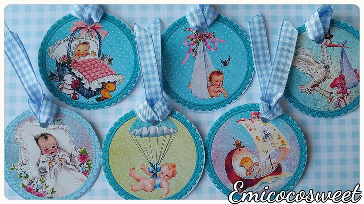 6xWelcome tag,Thank Tag,Baby Boy Shower,Party Favour tag,Cute Vintage Hang Tag