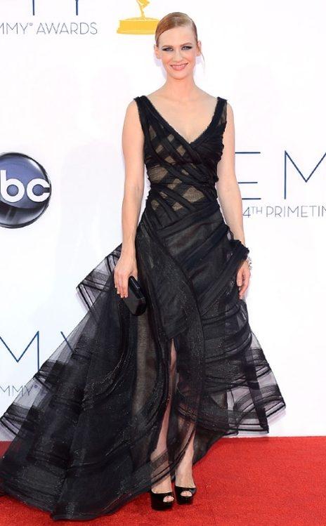 January Jones in Zac Posen #Emmys2012
