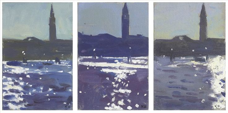 RA Summer Exhibition 2017 work 325: 325 - BACINI TRIPTYCH by Ken Howard RA, . #RASummer