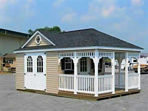 Forget Man Caves! She Sheds Are The New Female Equivalent | Ummmm so want to turn one into a bar/wine tasting shed!