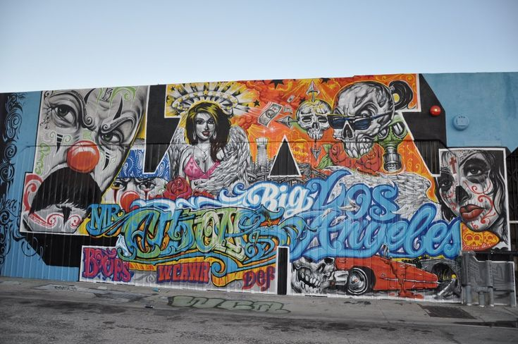 los angeles graffiti murals | Streets: Downtown LA Graffiti Mural Mini Tour « Arrested Motion