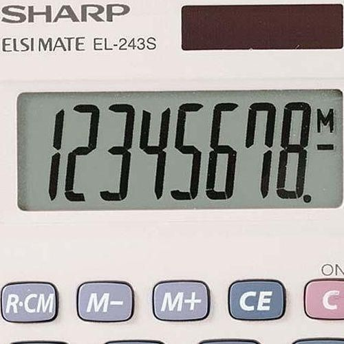 Sharp Elsi Mate EL-243S napelemes zsebszámológép 8 számjegyes - Számológépek Ft Ár 1,379