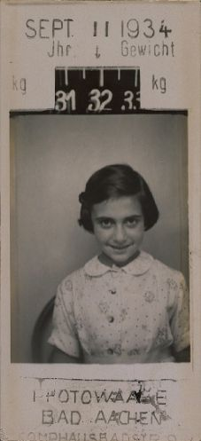 Margot Frank in Aachen on 11 September 1933.