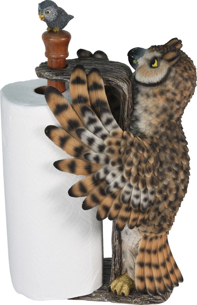 "Poly Resin construction & hand painted with amazing attention to detail, this 17"" tall paper towel holder is very realistic. Holds a standard 11"" wide paper towel roll. - SKU: 839"