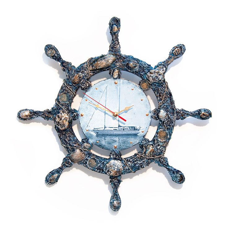 часы декупаж с рельефной пастой  МК
