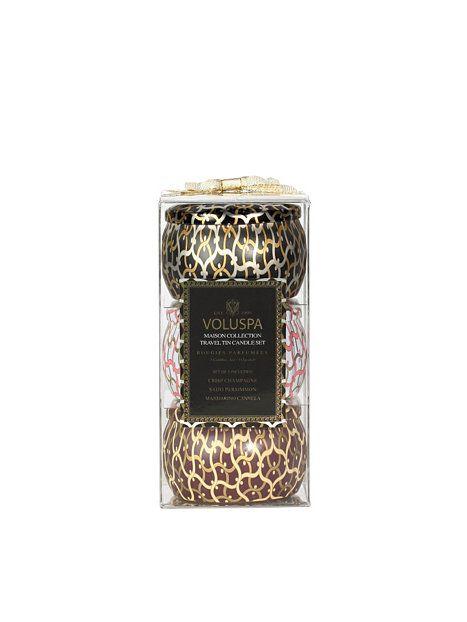 Gift Set 3 X Mini Tin Candle - Voluspa - Vit - Beauty @ Home - Skönhet - Kvinna - Nelly.com