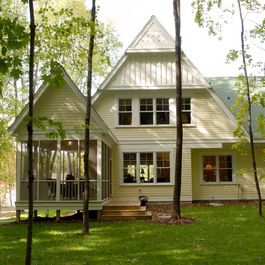 55 best images about houses on pinterest farmhouse plans house and porches for Lake house exterior paint colors