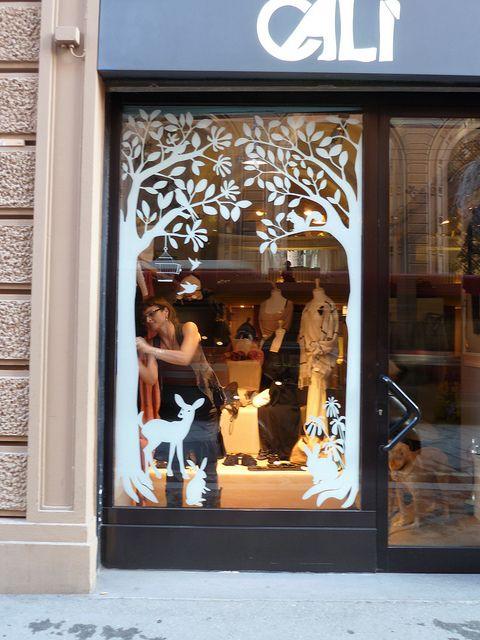 window decoration by Barbara Calzolari