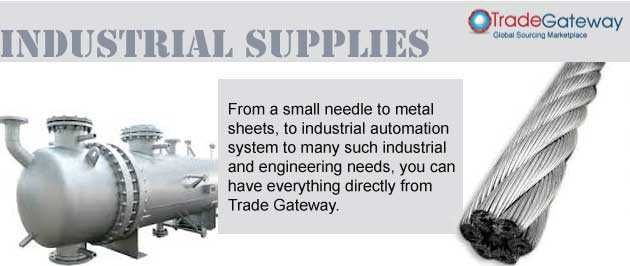 Are you facing the problem in finding a relevant supplier in industrial supply range? If yes, don't worry visit www.tradegateway.com .It's an online B2B directory with the relevant supplier of all the categories like wire rope, gases, capital goods, heating elements, PVC, HDPE pipes, etc.   The listed categories have the genuine suppliers many among which are the renowned name in the respective industries. Just posting your enquiry will help you in following ways:  Only genuine and…