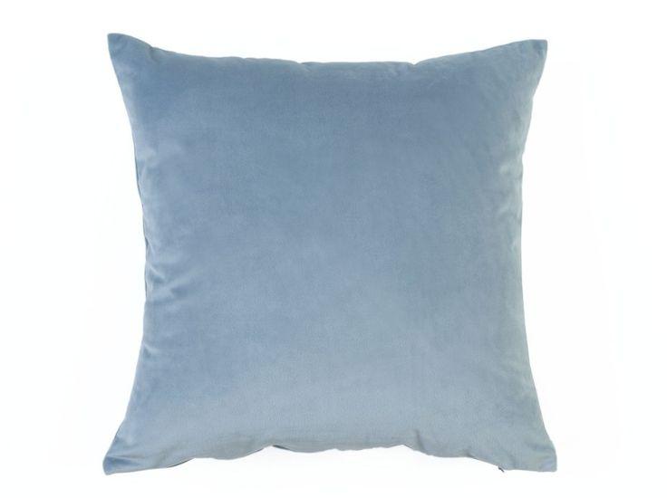 Super Soft Velvet Cushion Cover - A super soft velvet look cushion cover in a misty blue colour.
