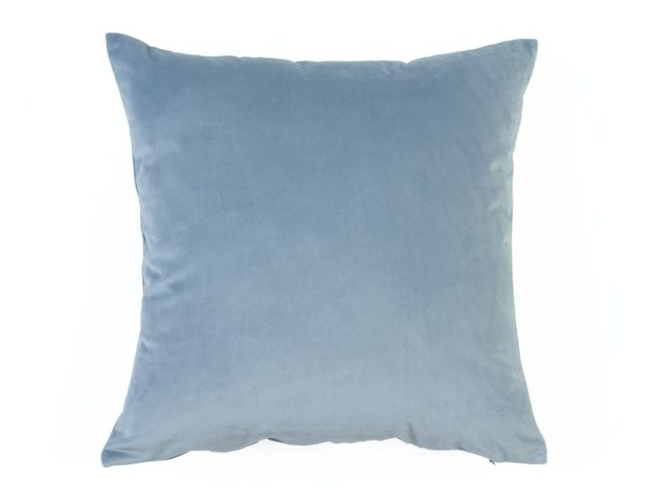 Super Soft Velvet Cushion Cover - A super soft velvet look cushion cover in a misty blue colour.