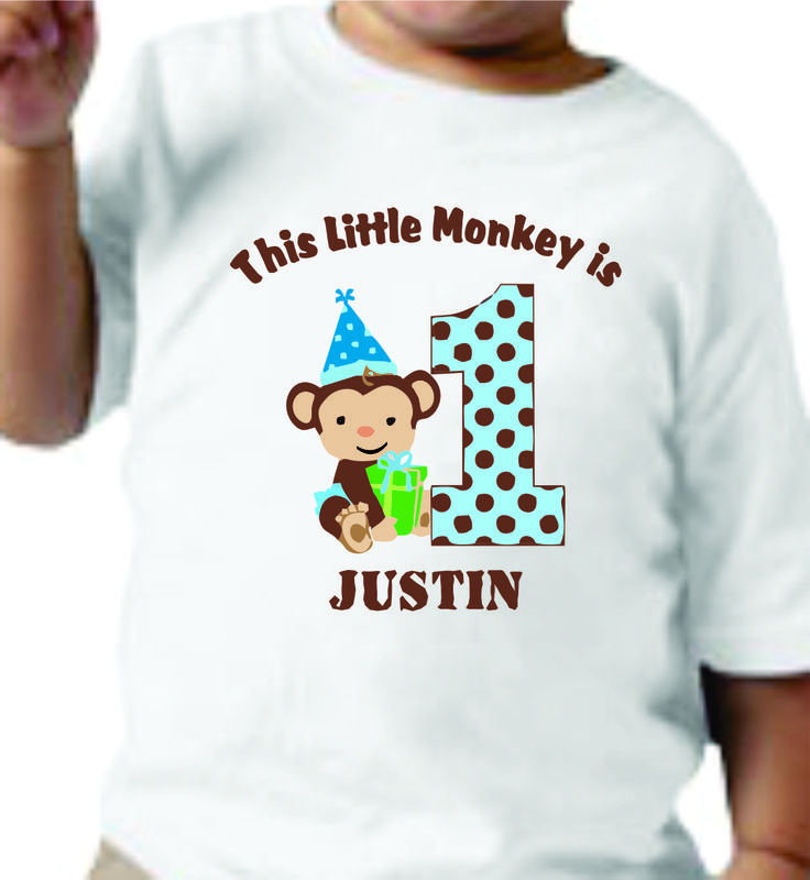 Do you have a little monkey that you would like a Custom Tee Shirt for ? email…