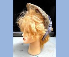 1860 antique victorian SPOON BONNET straw?lace HAT WIRE civil war era millinery