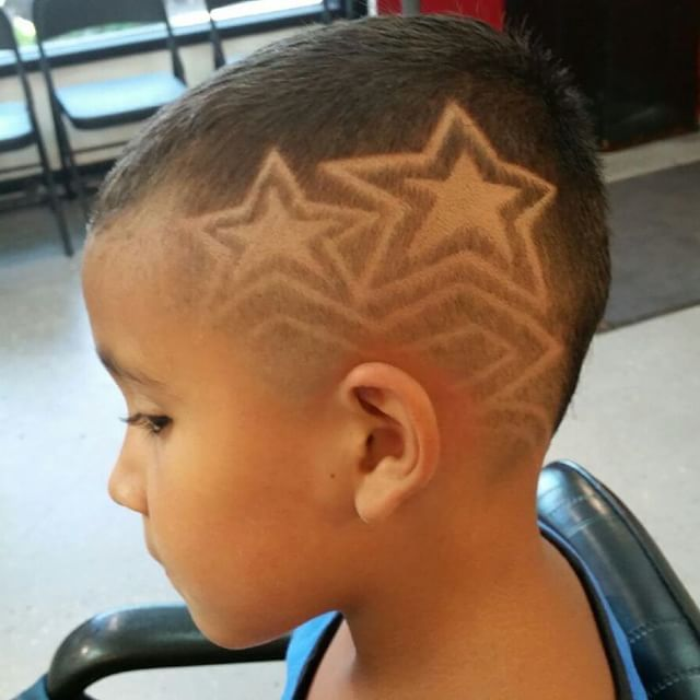 little boys haircuts star design google search hair