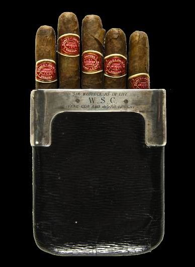 Winston Churchill's Cigar Case.......This case was a wedding present to Winston Churchill from Admiral of the Fleet Lord John Fisher