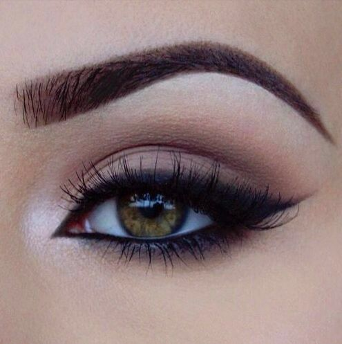 Soft smoky eye with bold eye liner #2016makeuptrends #makeup #weddingmakeup…