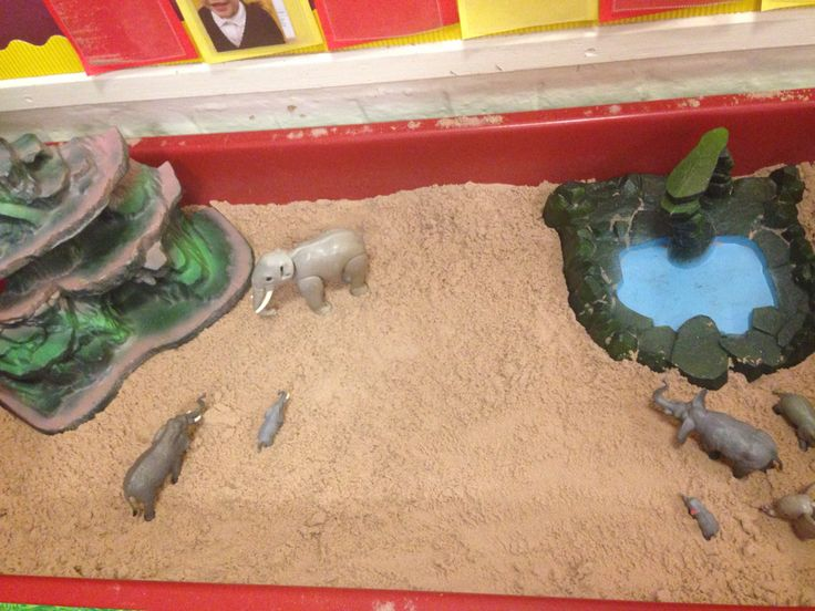 Elephant safari sand pit