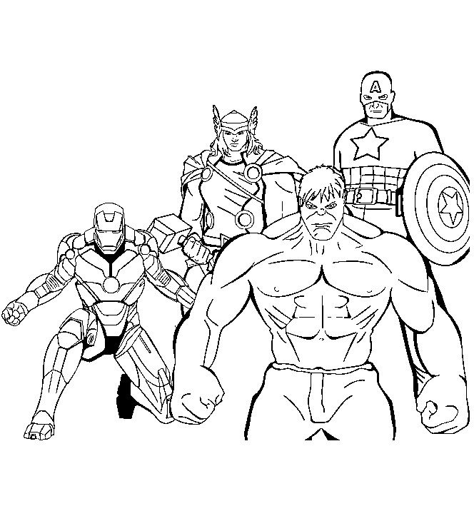 Avengers Coloring Pages