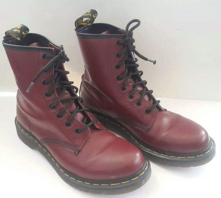 Dr Martens 1460 Men's 8 Eye LaceUp Boot Cherry Red Smooth  #drmartens #martens #drmartensstyle #boots #drmartensboots
