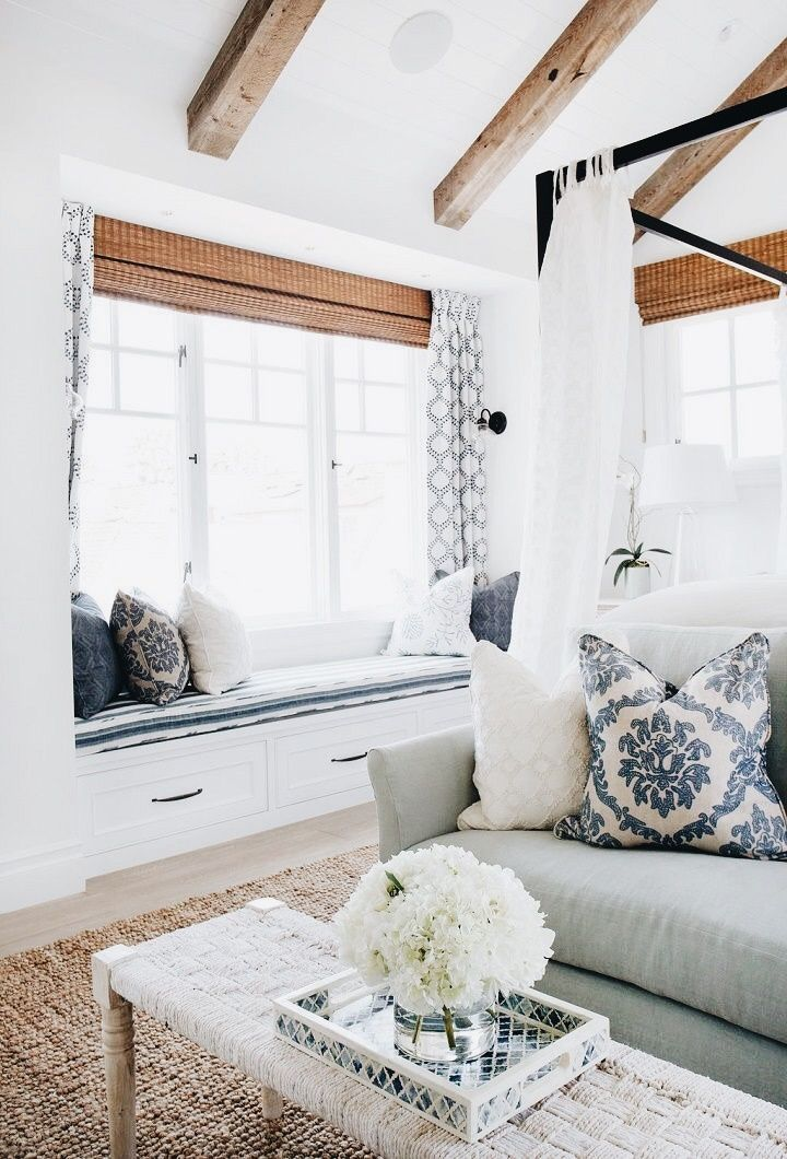 Quite into the idea of a white bedroom at the moment, affords lots of freedom with color schemes. (And it's very bright and alive in morning sunshine)